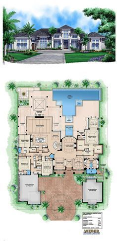 Caribbean House Plan Beach Home Floor Plan 1 Story Open Layout