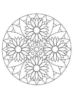 blumen mandala 2 | coloriages | Pinterest | Blumen-Mandala, Blumen ...
