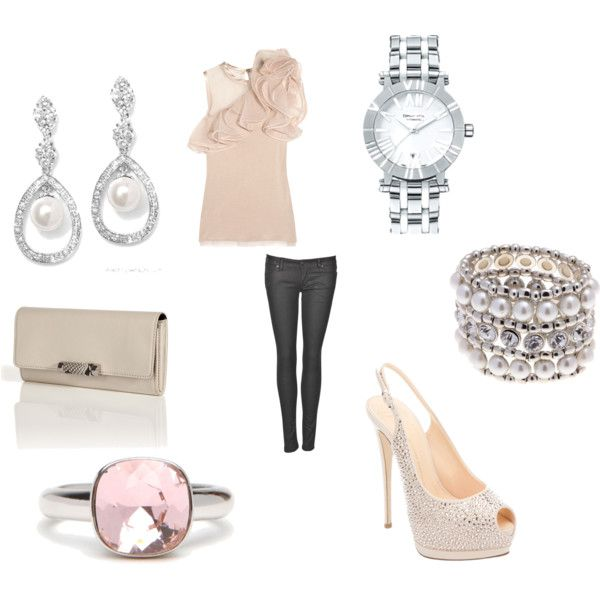 going all out in sparkle, created by kristenblackburn on Polyvore.