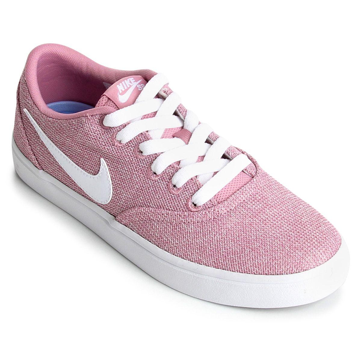 47130b25305 Tênis Nike Wmns Sb Check Solar Cvs P Feminino - Preto e Rosa em 2019 ...
