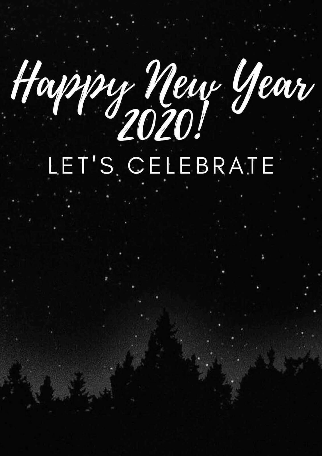 Happy New Year 2020 Card Vertical Quotes about new year
