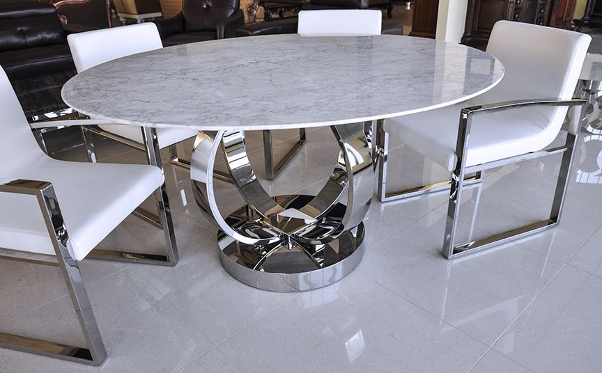 Dining Table Marble, Modern Round Dining Set