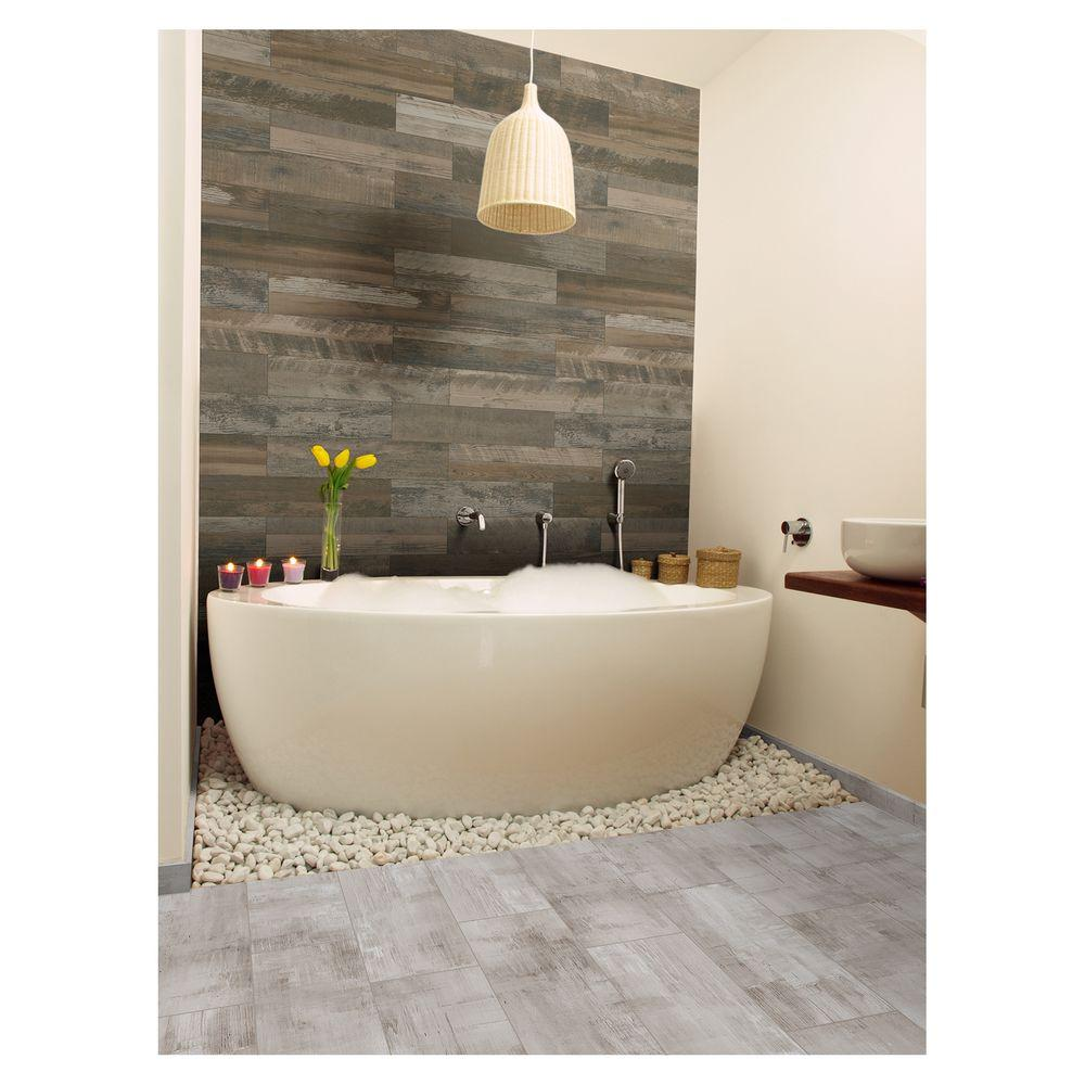 Marazzi montagna wood weathered gray 6 in x 24 in porcelain marazzi montagna wood weathered gray 6 in x 24 in porcelain floor and wall tile 1453 sq ft case dailygadgetfo Images