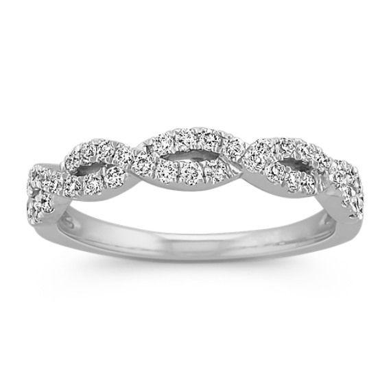 Diamond Twisted Infinity Wedding Band Diamond Wedding Bands