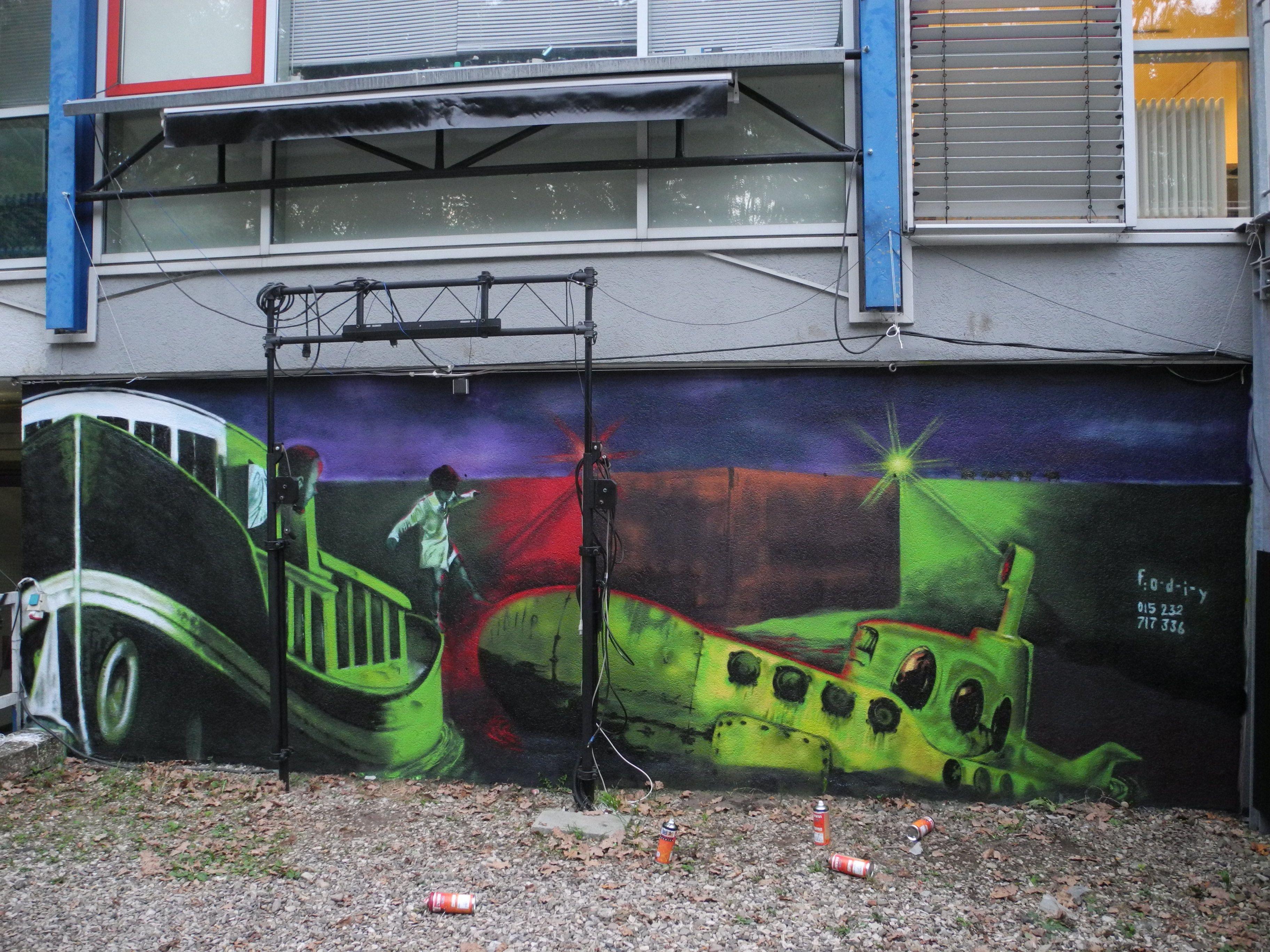 Streetart Graffiti Writing Commissioned Auftrag Hannover Germany