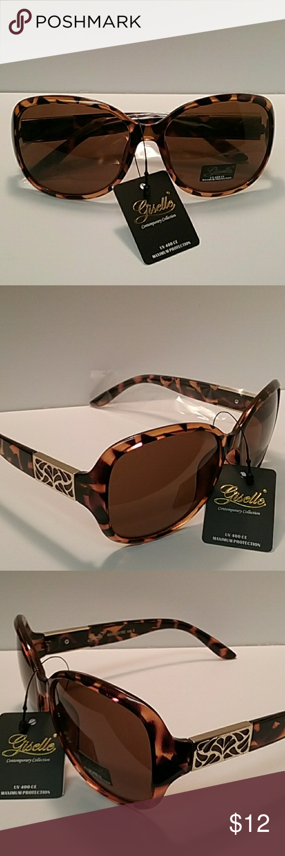 7881d23c56d24 GISELLE CONTEMPORARY COLLECTION SUNGLASSES GISELLE CONTEMPORARY COLLECTION  SUNGLASSES NWT STYLISH MULTI COLOR PLASTIC FRAME GOLD TONE