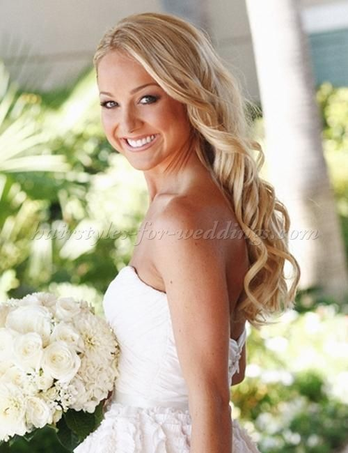 Wedding Hairstyles Down Simple Longweddinghairstyleswavyblondebridalhairstyle  Down Hair