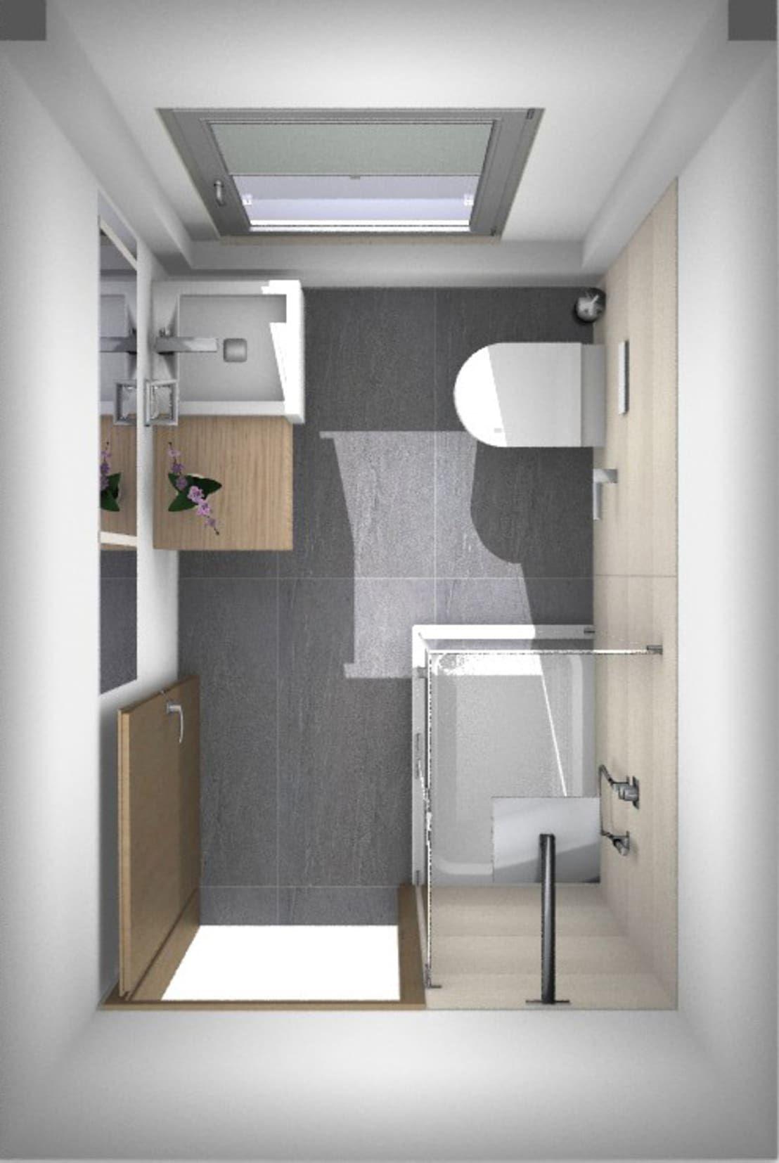 Badrenovierung Dusche im Gäste WC   homify   Moderne ...