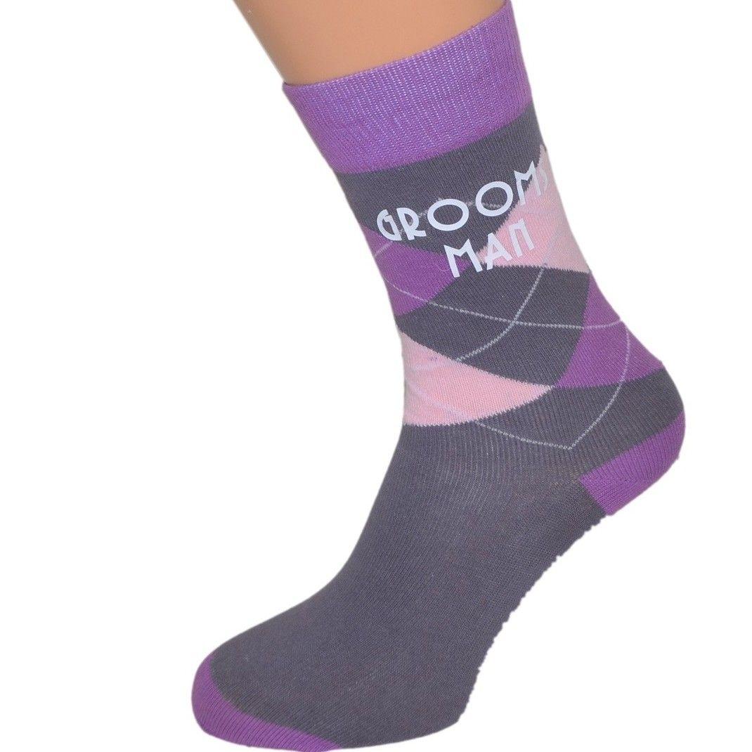 4.99 Diamond Wedding Socks (Various Colours) | Purple Themed Wedding ...