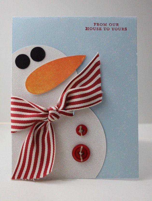 Tarjetas navide as f ciles de hacer tarjeta navide a - Postales navidenas para hacer ...