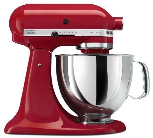 Amazon.com: KitchenAid KSM150PSER Artisan Series 5-Quart Mixer, Empire Red: Kitchen & Dining