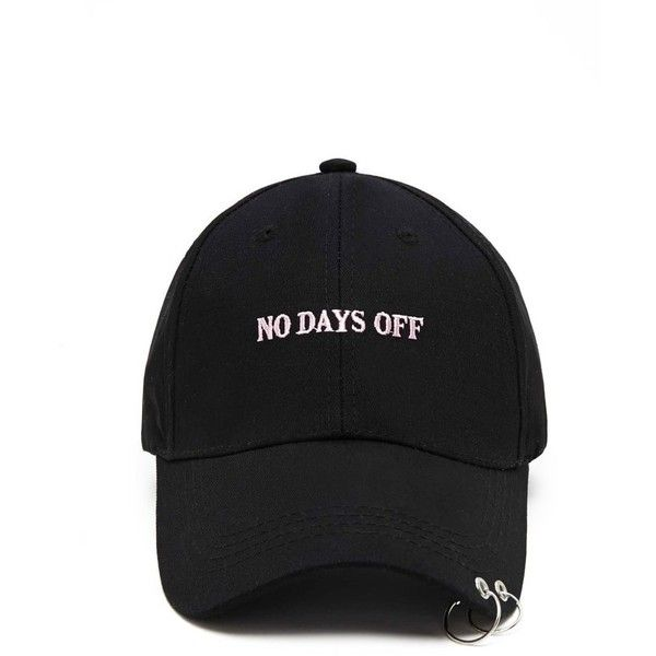 13d88e35331 Forever21 No Days Off O-Ring Cap ( 13) ❤ liked on Polyvore featuring