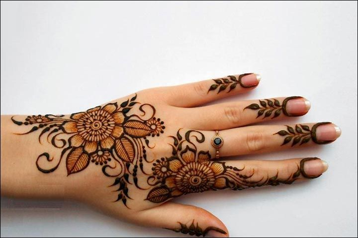 Mehndi Designs With Flowers : 41 dubai mehndi designs that will leave you captivated
