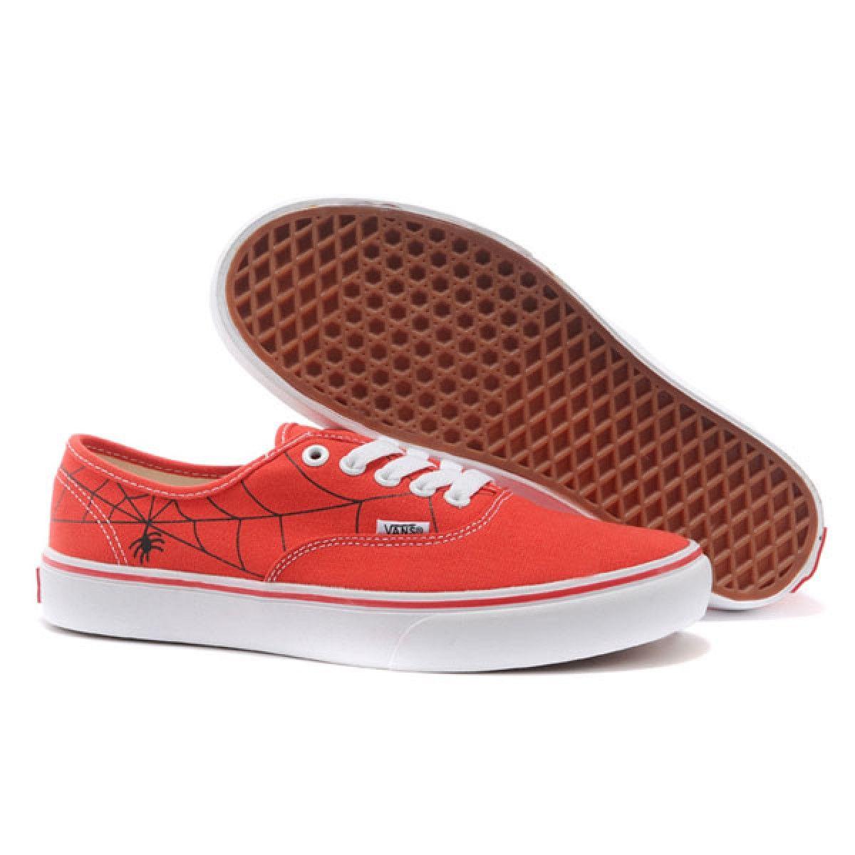 7a4fd4e698 Vans Shoes Red Spider Man Authentic Lite Shoes Unisex Classic Canvas ...