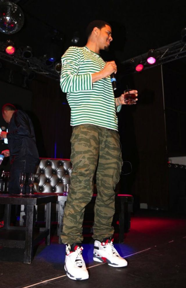 J Cole Jordans J. Cole wearing #AirJo...