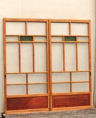 オニダイア緑色ガラスの建具 在庫2枚 GD703