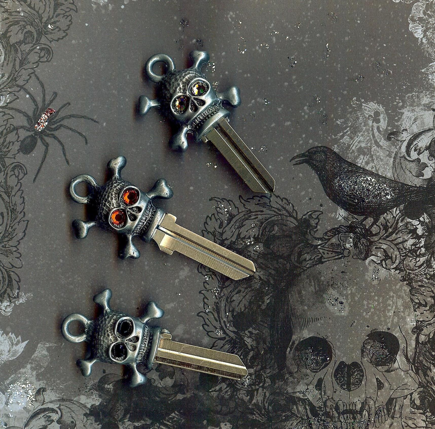The Key Is Picking Just The Right Skull To Unlock Your Door Designer Key Blanks Couture Keys By Keystomycastle Key Design Key Blanks Key