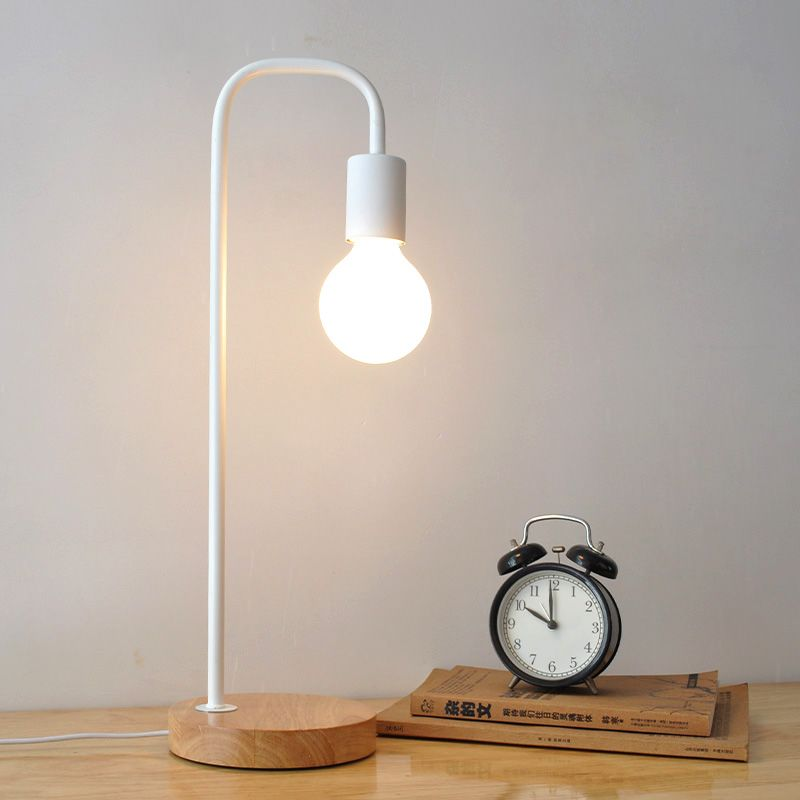 Find More Table Lamps Information About Metal Black Table Lamps Bedside Table Light Abajur Modern Study Lamps Chil Metal Lamp Shade Table Lamp Study Table Lamp