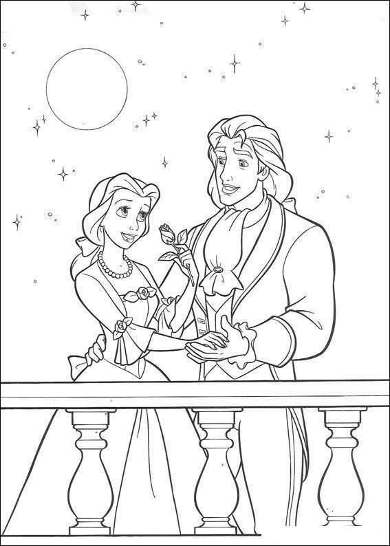 Kleurplaten Disney Prinsessen Belle.Kleurplaat Belle En Het Beest Belle En Het Beest Fairy Tale