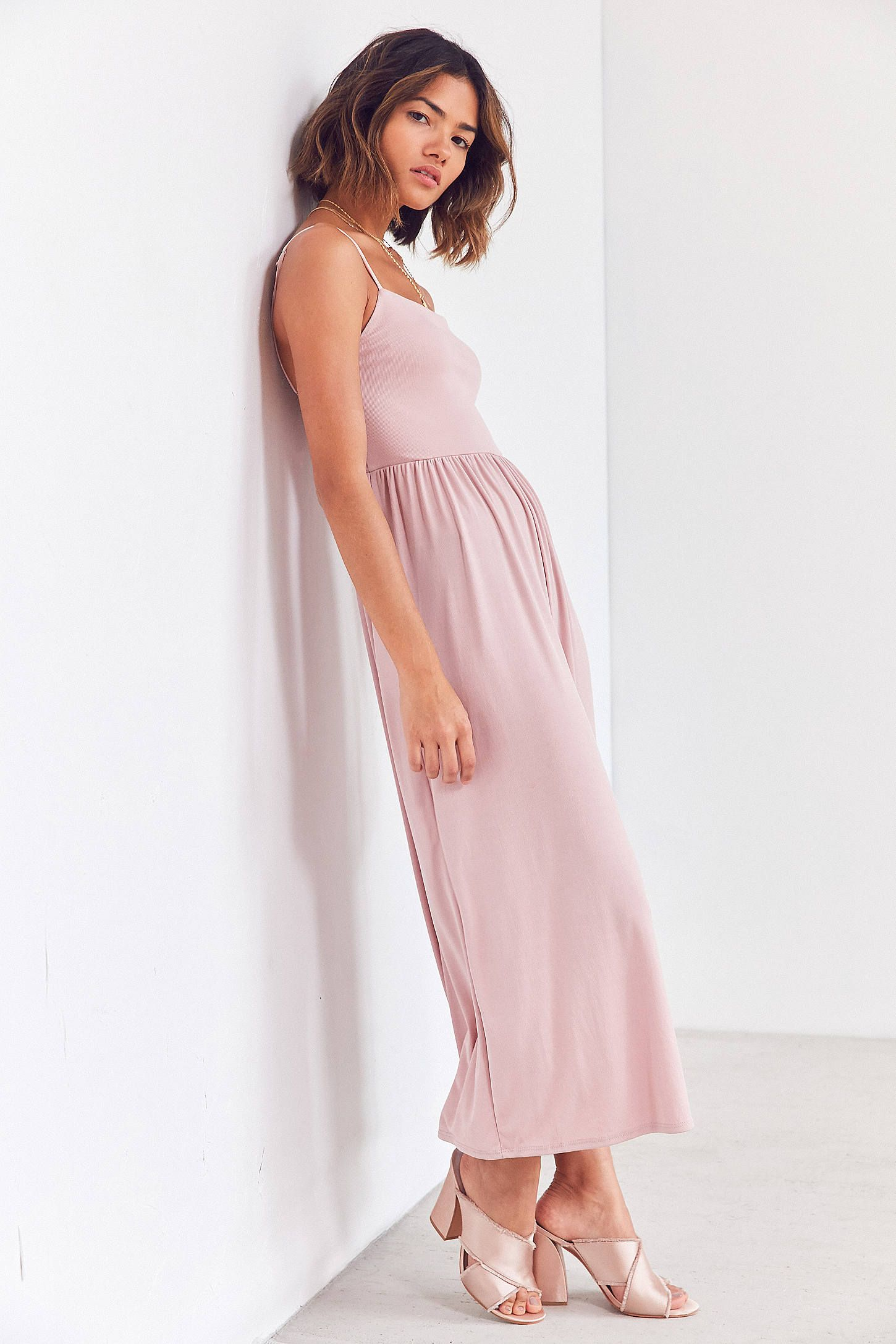 203e961630 Silence + Noise Belinda Ribbed Knit Wide-Leg Jumpsuit at Urban Outfitters