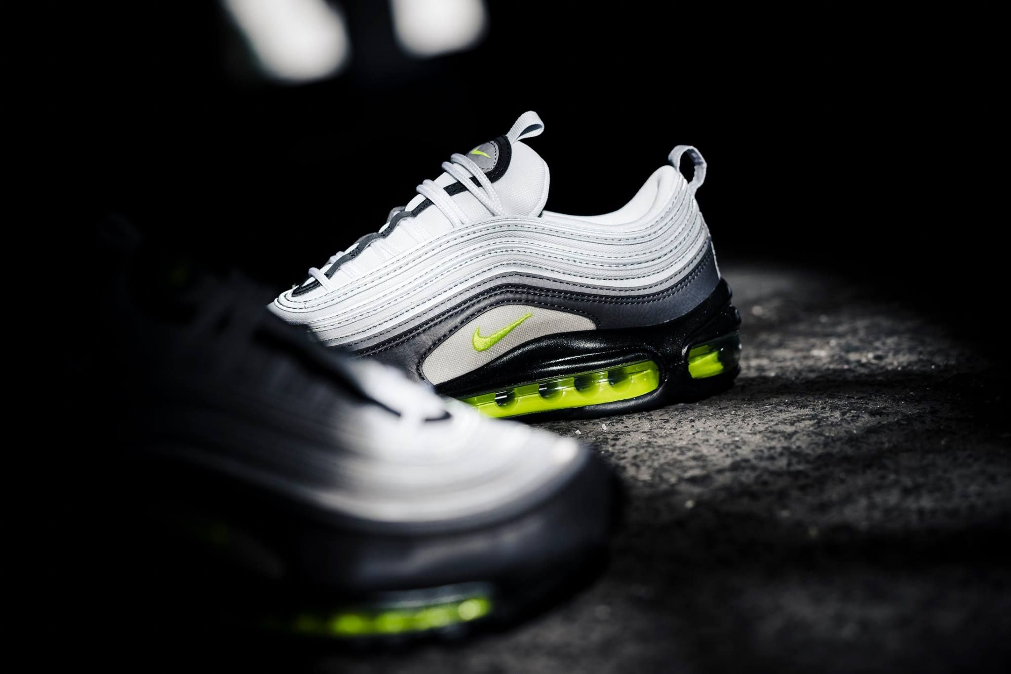 The Nike Air Max 97 Neon is featured in a closer look and it s now available 48d98f64b