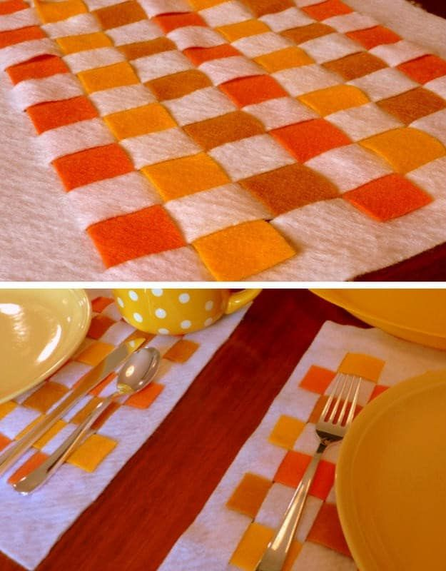 Placemat Ideas To Make Your Thanksgiving Table Stand Out Diy Projects Diy Placemats Thanksgiving Placemats Preschool Christmas Crafts