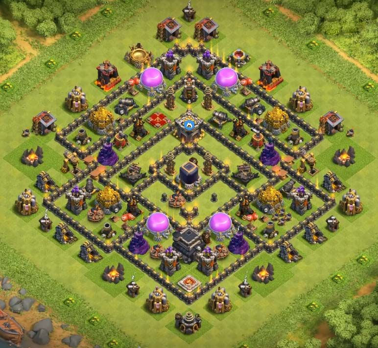 Best Th9 Dark Elixir Farming Base 2019 Base Coc Th 9 3