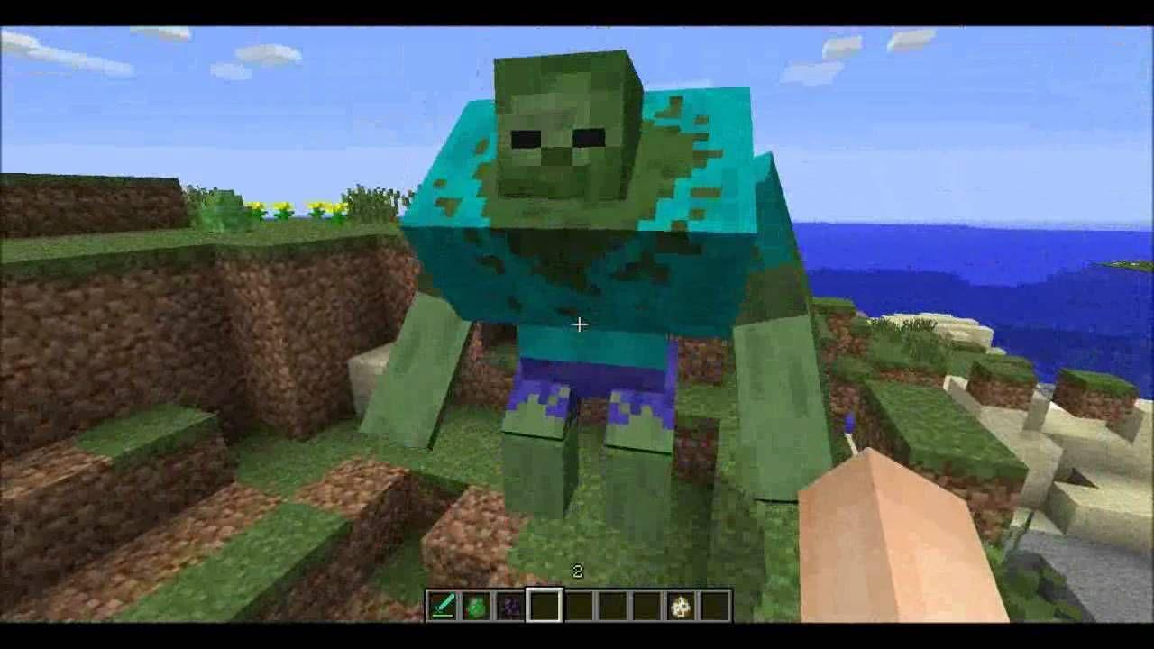 Huge minecraft zombie!