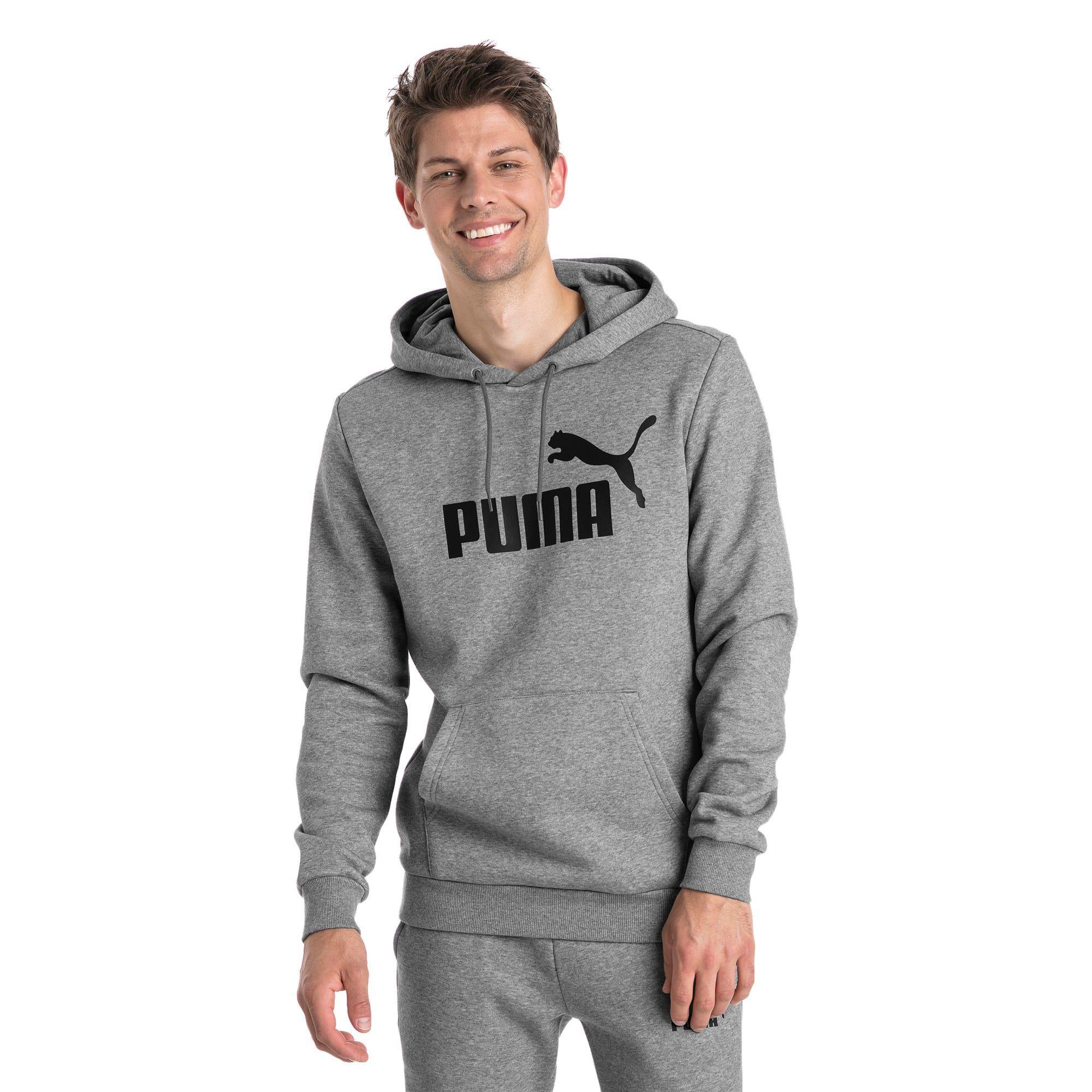 Photo of PUMA Essentials Fleece Men's Hoodie, Medium Grey Heather, size Large, Clothing