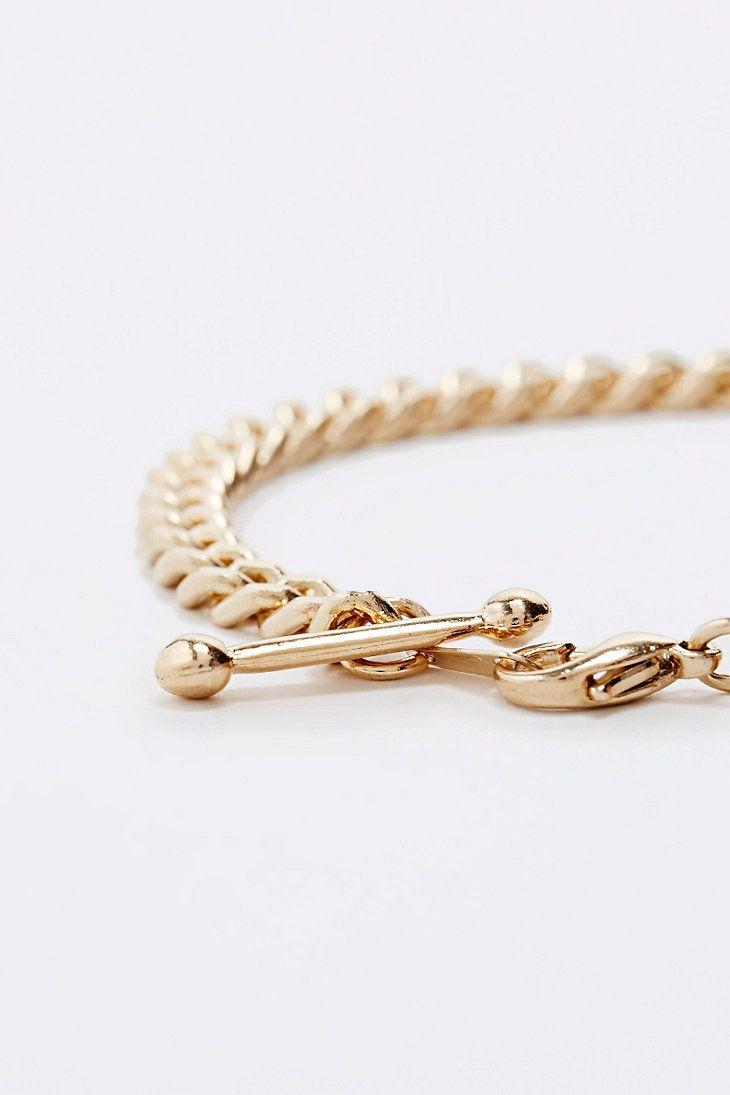 Urban Renewal X Susan Caplan - Bracelet à maillons doré - Urban Outfitters