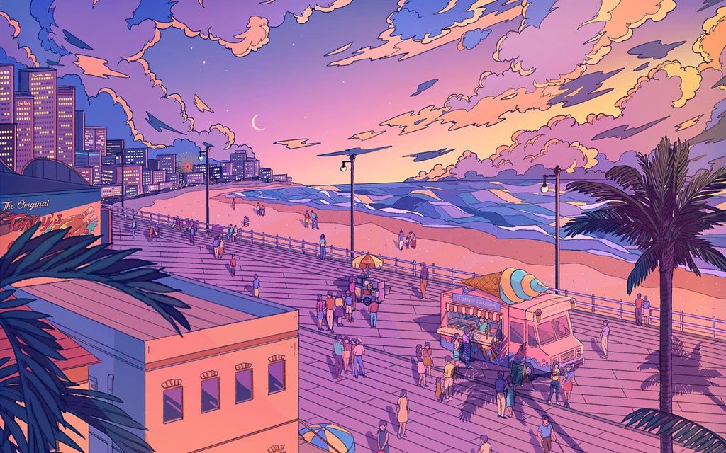 Aesthetic Beach [by midwinterdawn][2880x1800] wallpapers