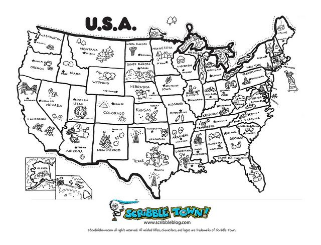 Learn the 50 States! by Scribble Town!, via Flickr (With