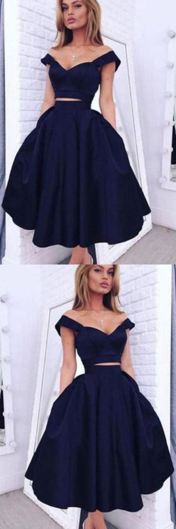 Vintage short two pieces cheap adel homecoming dresses