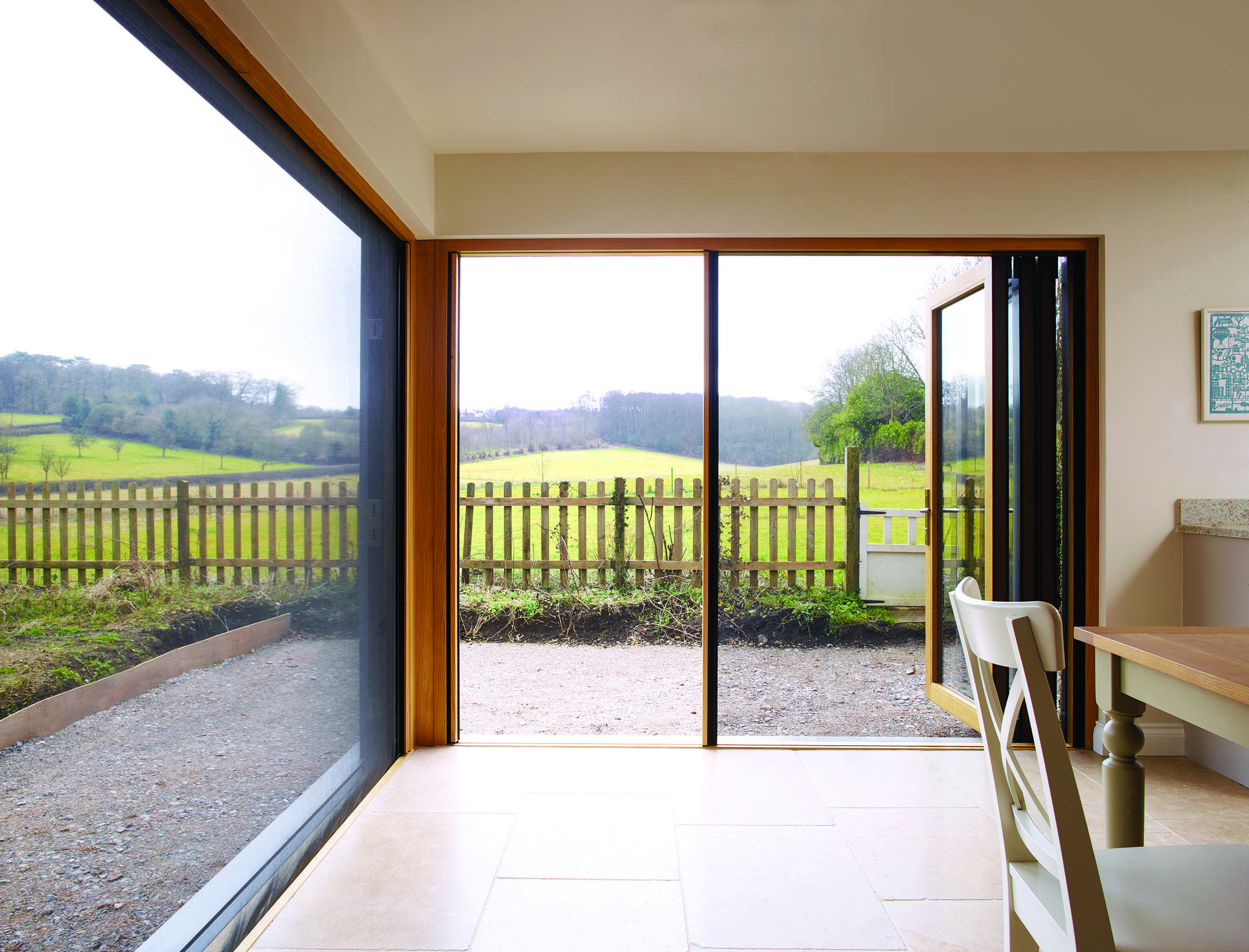 Centor Integrated Doors with built-in insect screen installed in a home in the English countryside & Centor Integrated Doors with built-in insect screen installed in a ...