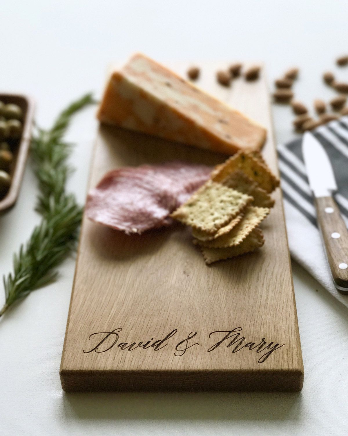 Wedding Gift, Personalized Cheese Board, Custom Name