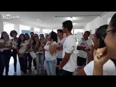 Brazilian teacher with student