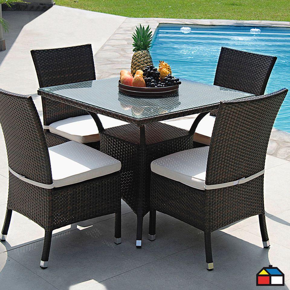 Juego De Terraza Tenerife De Aluminio Con Ratn PE Furniture Outdoor Furniture Sets