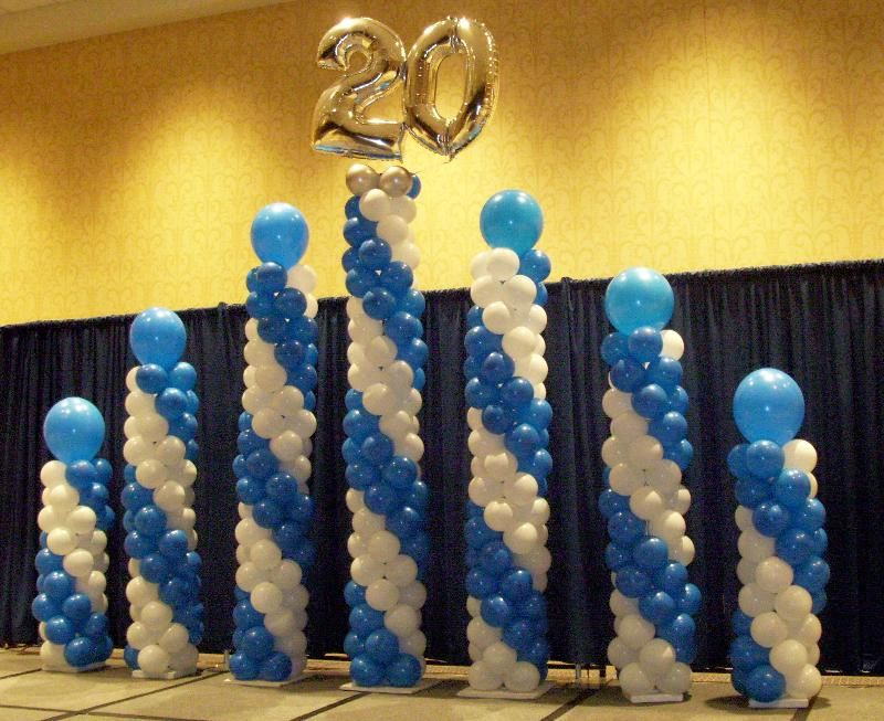Great idea for any anniversary wedding church or for Balloon decoration business