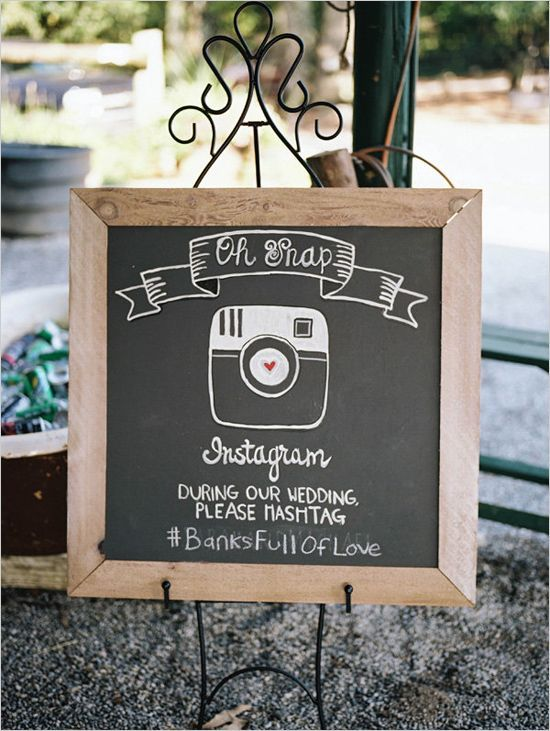 50 Awesome Wedding Signs Youll Love Instagram sign Chalkboards