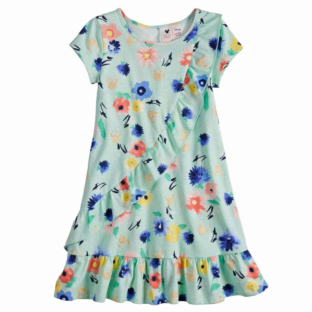 Disneyjumping Beans Disney\'s Minnie Mouse Girls 4-7 Floral Ruffle ...