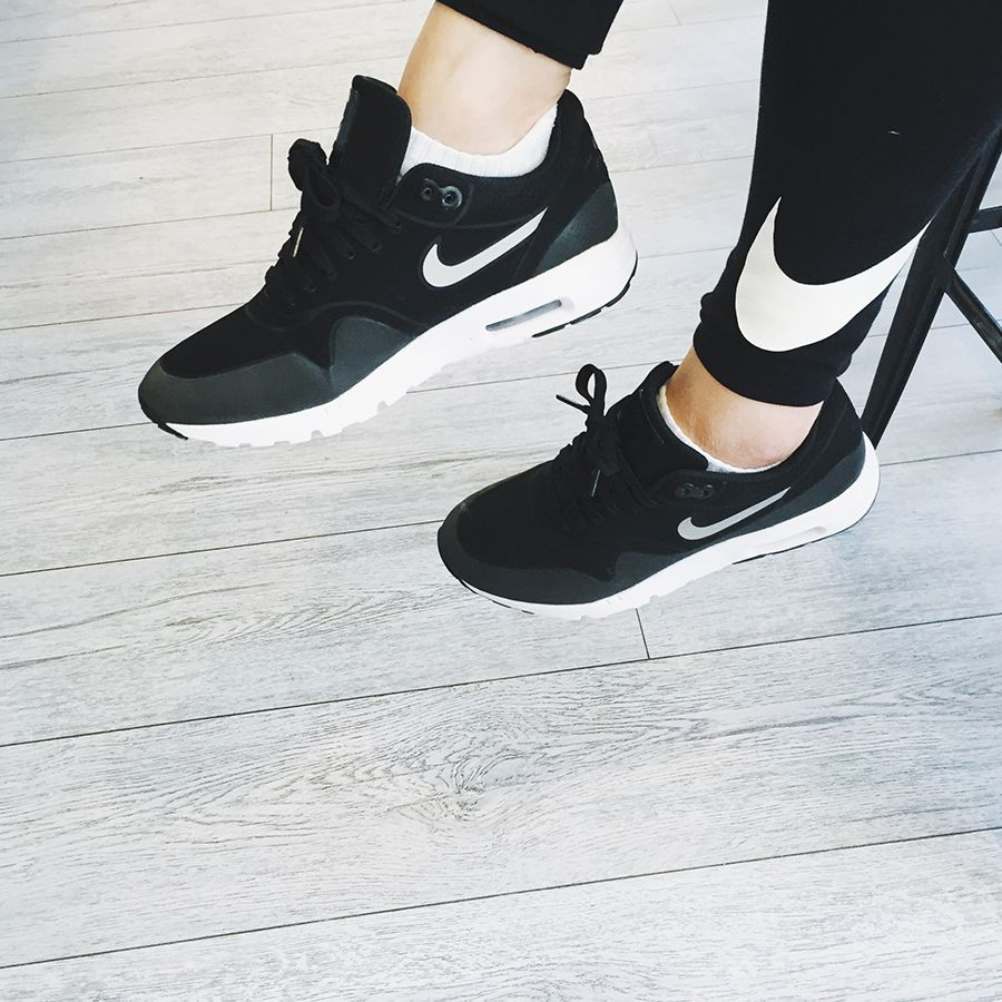 Anna Bediones in the Nike Club Leggings and the Nike Air Max