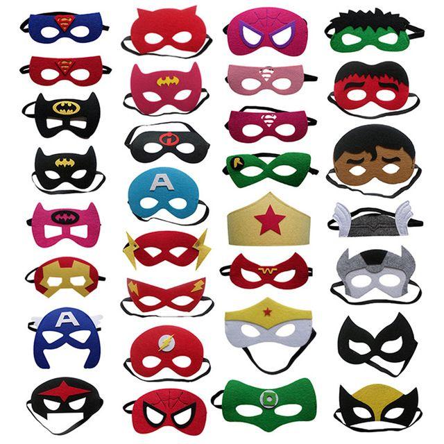 Resultado de imagem para mascara dos super herois meninos