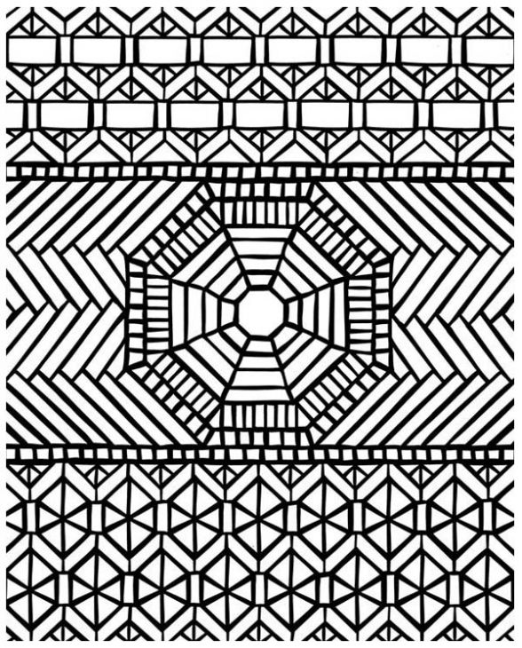 Mosaic Coloring Page For Grown Ups   designs & patterns   Pinterest ...