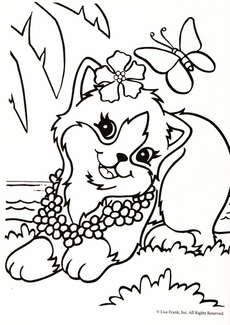 Lisa frank coloring pages to download and print for free | Cricut ...