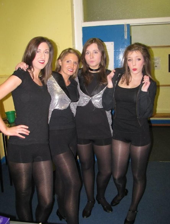 upskirt at dance class Pantyhose