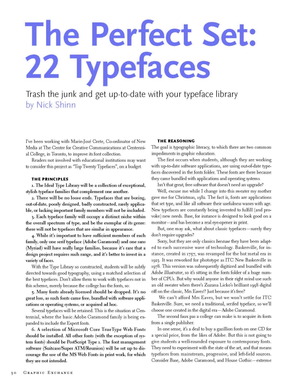 22 typefaces 1 Typeface, Typography