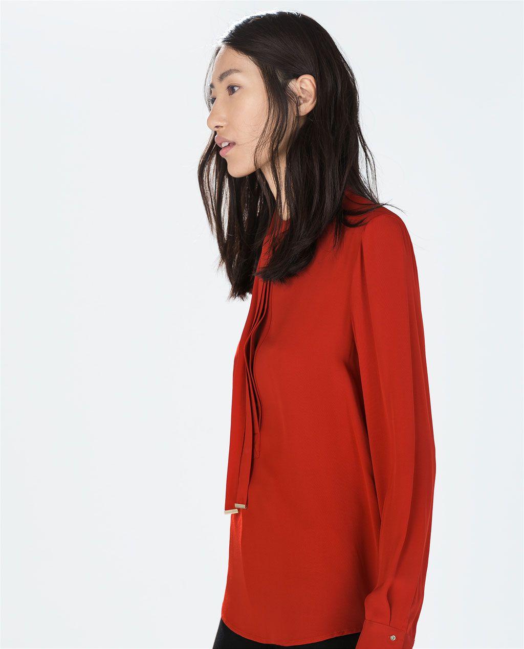 Zara woman bowed blouse styles and smartsuethursdayus treasures