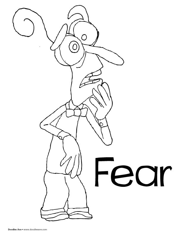 Inside Out coloring sheets! Fear! #pixar #inside #out # ...