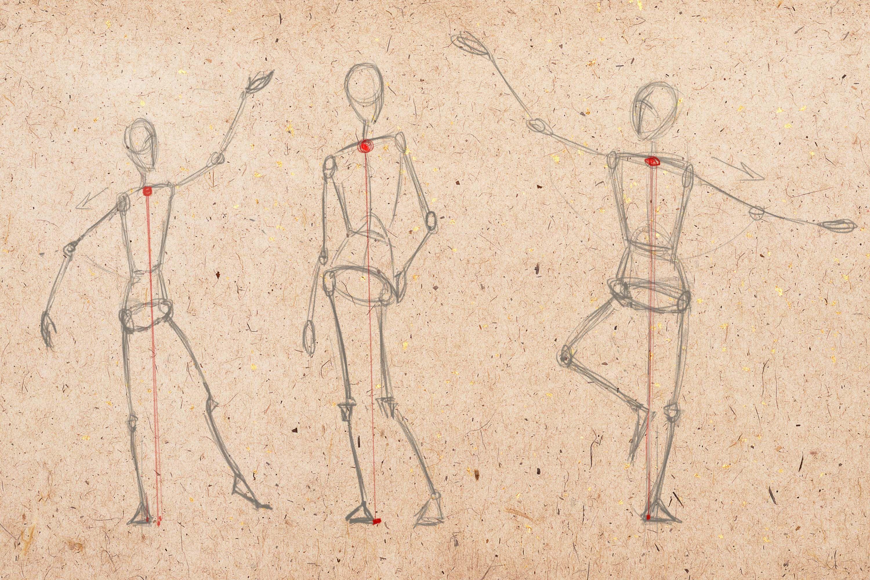 Баланс человека в движении (с изображениями) | Рисовать