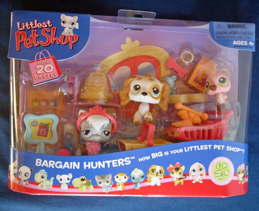 Littlest Pet Shop Bargain Hunters Kitty Cocker Spaniel